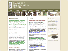 Tablet Preview of cambridgephilosophicalsociety.org
